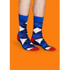 Мужские цветные носки ромбы 1