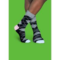 Мужские цветные носки ромбы 3