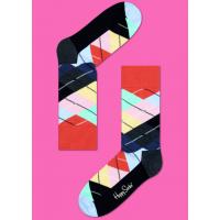 Мужские цветные носки ромбы 4
