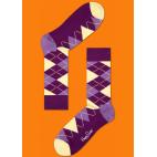 Мужские цветные носки ромбы 5