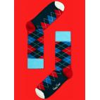Мужские цветные носки ромбы 7