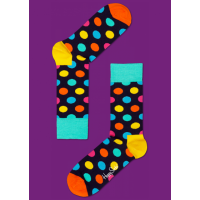 Мужские цветные носки горошек 12