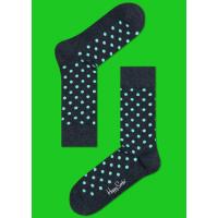 Мужские цветные носки горошек 14
