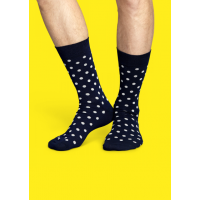 Мужские цветные носки горошек 17