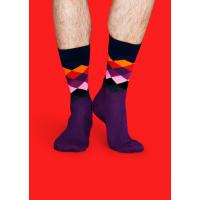 Мужские цветные носки ромбы 8