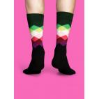 Мужские цветные носки ромбы 11
