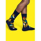 Мужские цветные носки перья 1